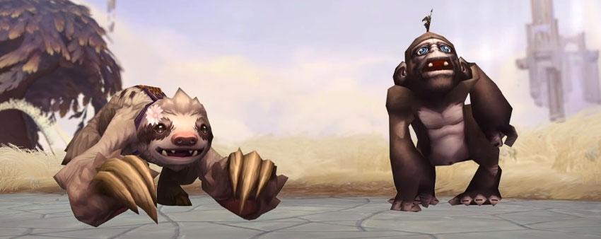 Daisy the sloth and Bananas the monkey