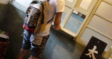 包包 麻料後背包 夏天郊遊穿搭好物