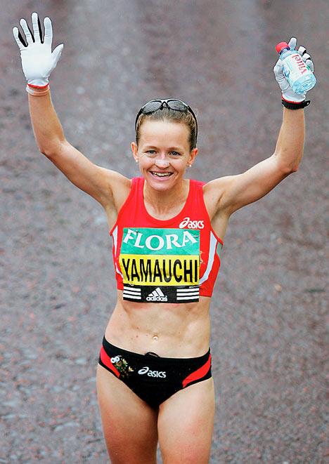 Mara Yamauchi finishing 2nd in London