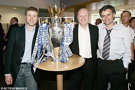 Roman Abramovich, Peter Kenyon & Jose Mourinho