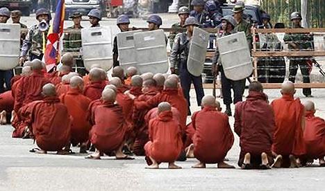 Monks in Rangoon