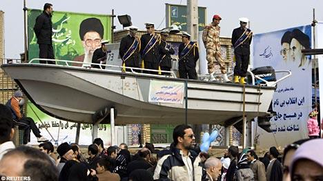 Iran Parades Dinghy