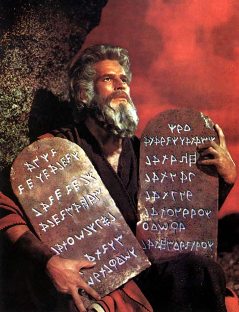 Moses could not have played Moses better than Charlton Heston