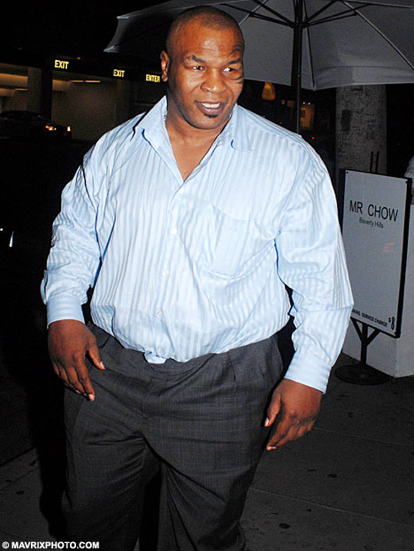 Mike Tyson is fat Daily Mail photo