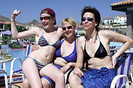 Lesbians in Lesbos. Seems natural to me.