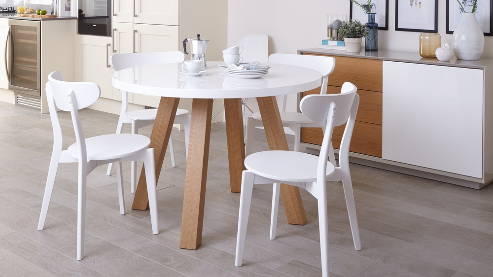 Modern Round 4 Seater Dining Table