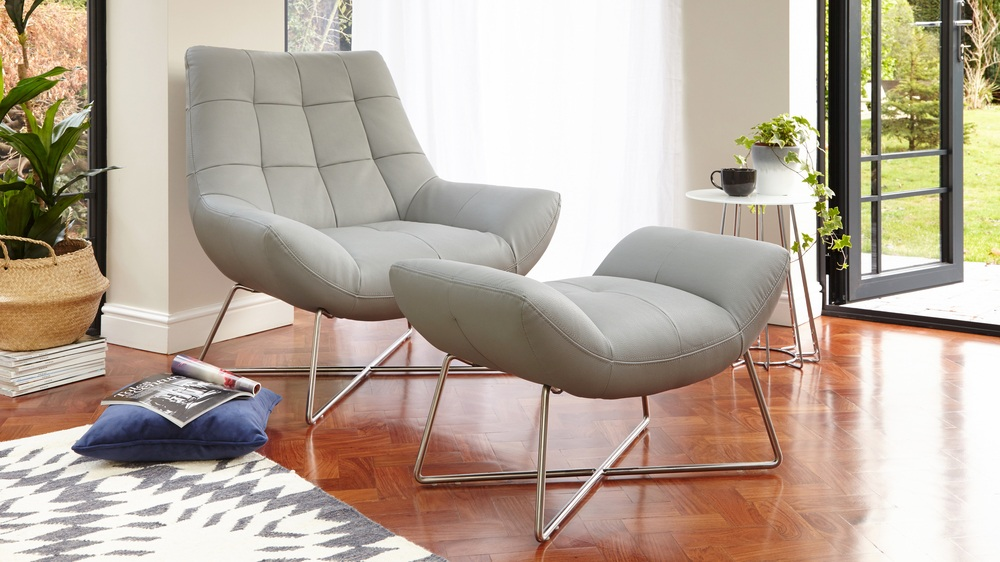 Armchair And Footstool Contemporary
