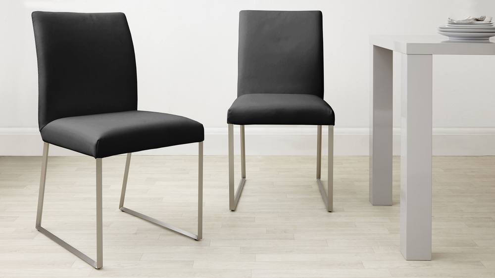 Eve White Extendable Glass Table And Monti Leather Extending Dining Set Danetti