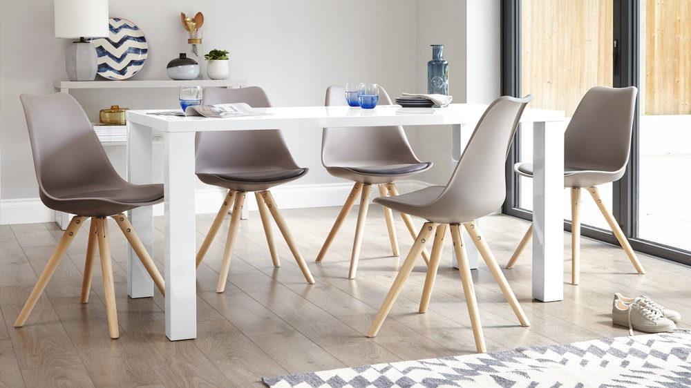 Modern White Gloss Dining Table