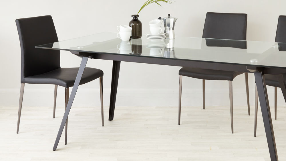 6 - 8 Seater Glass Dining Table