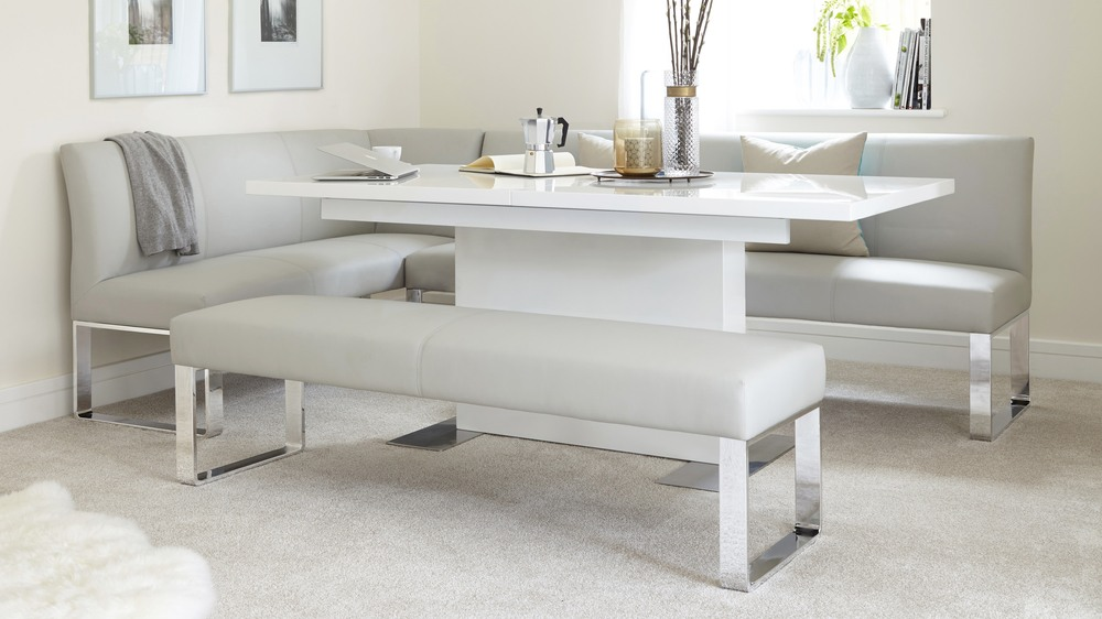 7 Seater Right Hand Corner Bench And Extending Dining Table