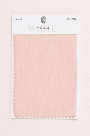 Blush Crinkle Chiffon Fabric Swatch Davids Bridal