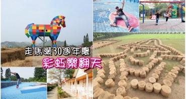 【台南景點】彩虹馬初登場!大型牧草迷宮好創意,互動式壁畫讓你玩出新高度:走馬瀨農場