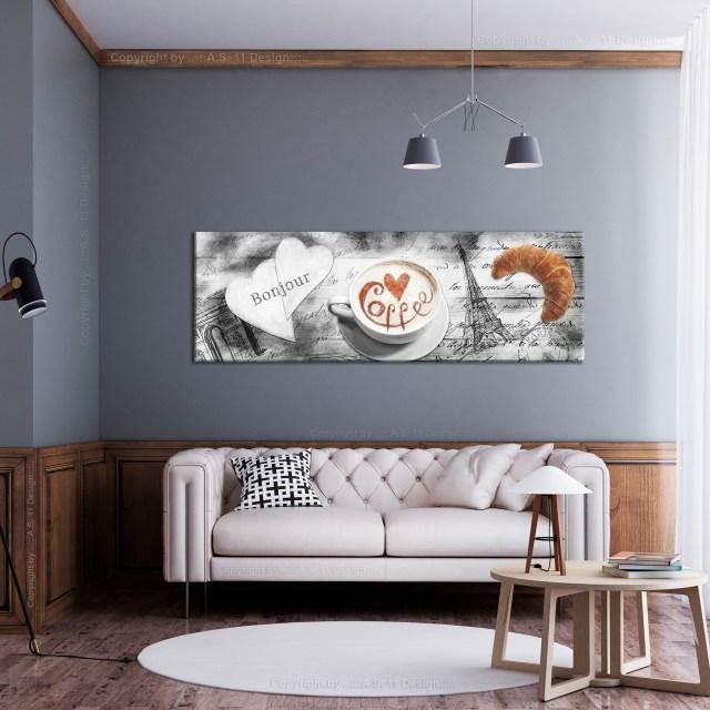 Küche HOME LEINWAND Deko Bilder Kaffee Holz XXL Wand Bild ...