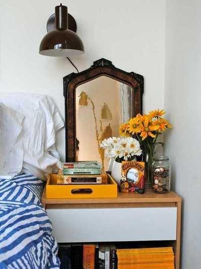 Decoraci n muebles nina - Mesitas de noche para espacios reducidos ...