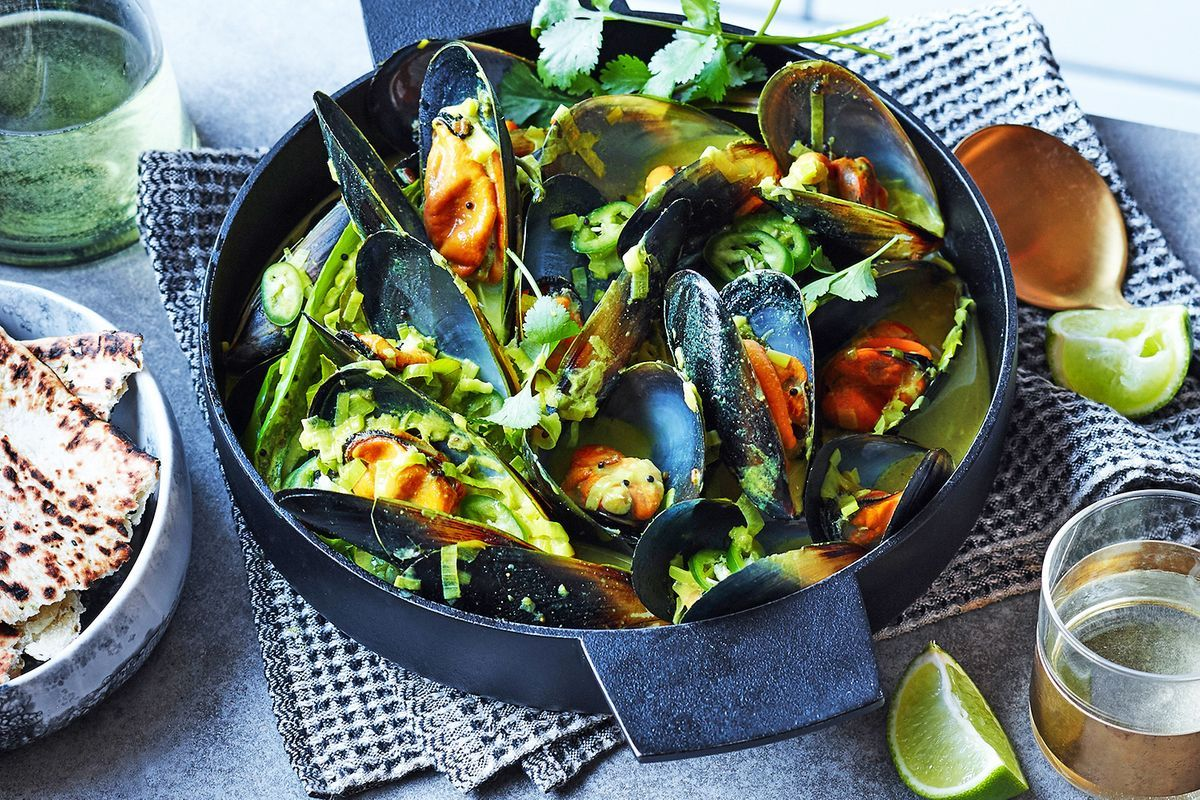 Australian Blue Mussels With Indian Spices And Coconut