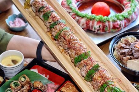 【台北x食記】肉和膳。牛肉壽喜燒丼300有找專人桌邊服務。和民集團全球第一家正式登台。超過45公分獨創武士刀浮誇壽司。
