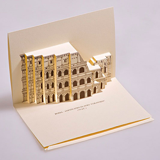 Creative 3D Popup Postcards Featuring Famous Monuments In