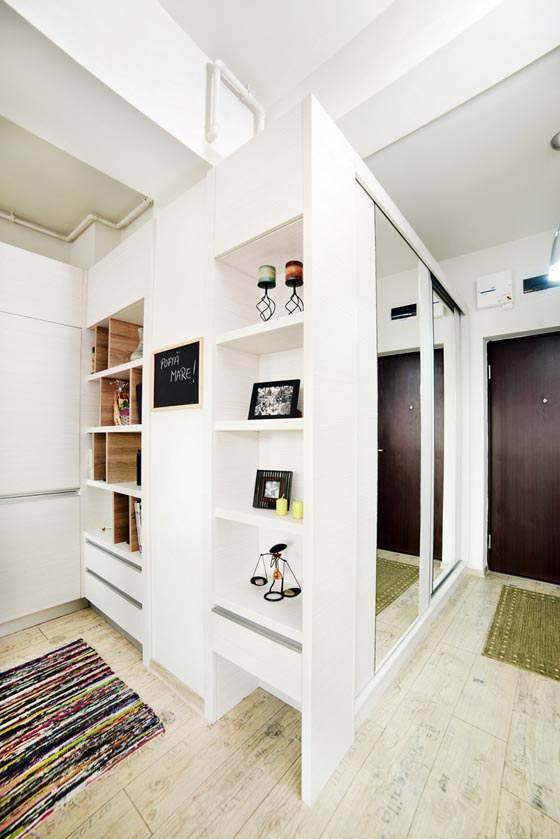 Creatively Convert 40 Square Meter Into Two Rooms Design