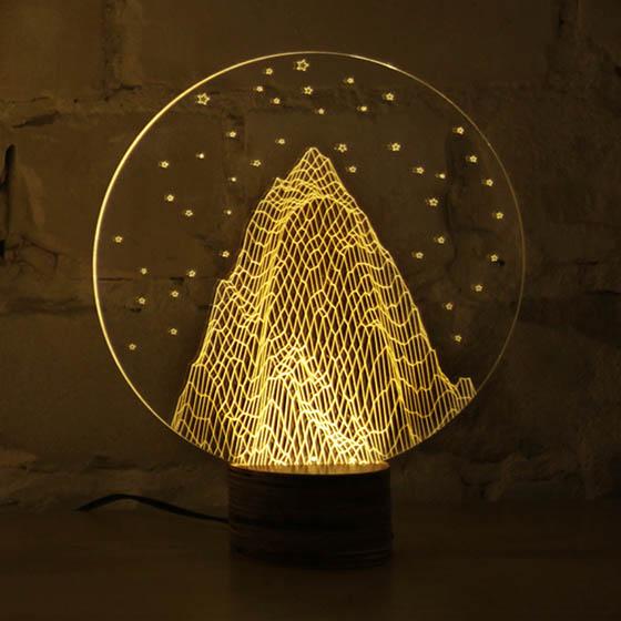Bulbing Optical Illusion 2d Led Lamp Looks Like 3d