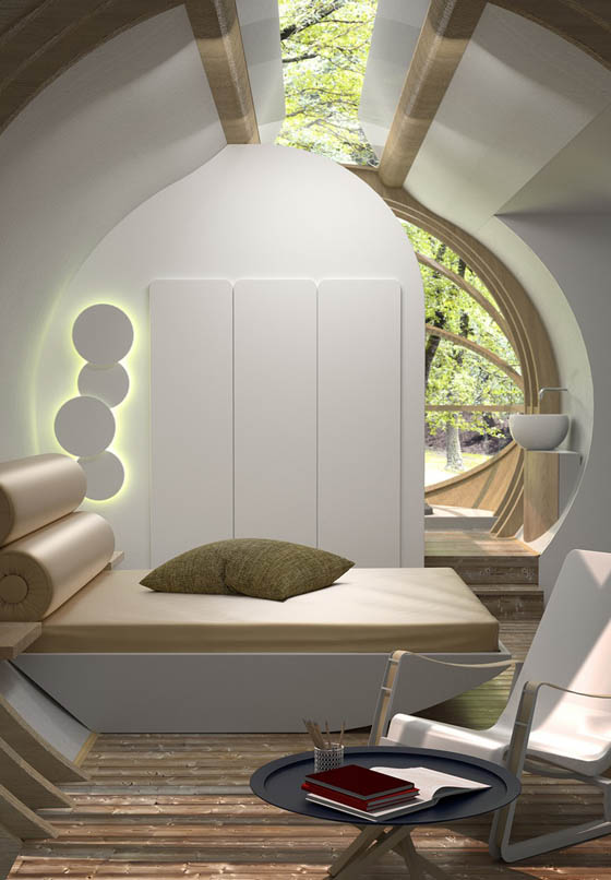 DROP XL Micro Removable Modular Hotel Room Design Swan