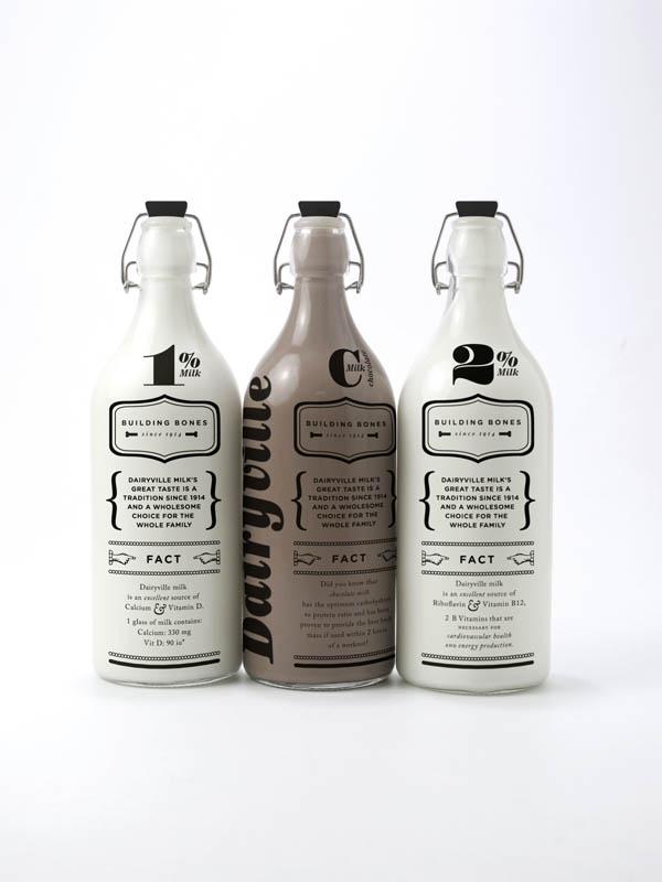 30 Creative Milk Bottle Designs Design Swan