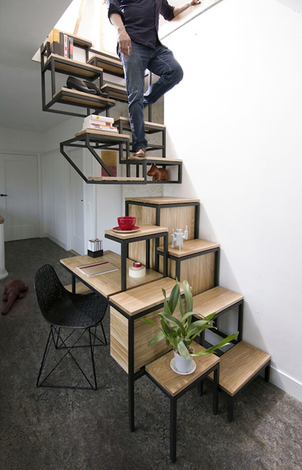 22 Innovative Staircases For Modern Home Design Swan | Home Interior Stairs Design | Wall | L Shaped | Elegant | American | Creative