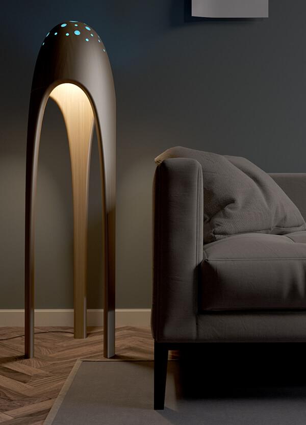 Alien Torchere Ultra Modern Floor Lamp Design Swan