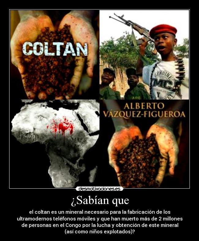 Resultado de imagen de coltan esclavitud infantil