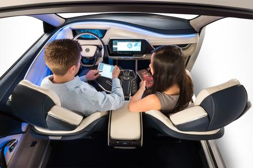 Autonomous cars will have seats that can rotate to improve contact between the driver and passengers, more space that's vacated by the steering wheel, and connectivity. (Source: Yanfeng Automotive Interiors)