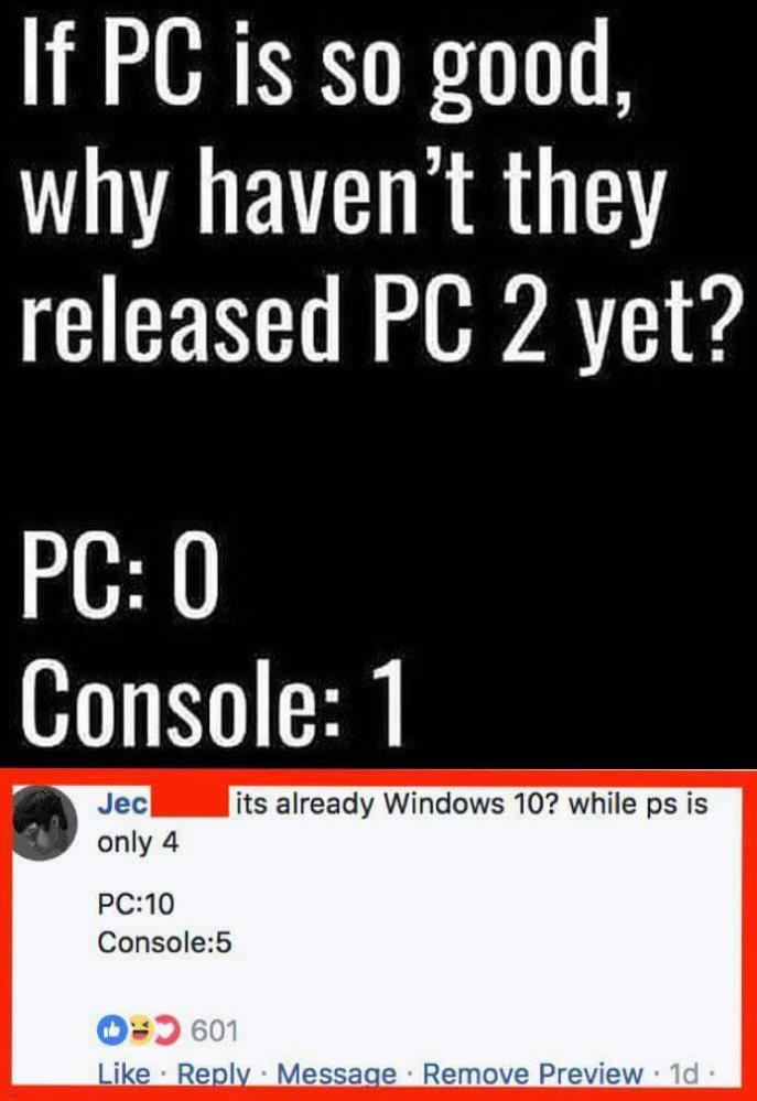 Console Pc Vs Console Never Gets Old Devrant