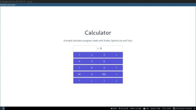 I Made This Simple Calculator App Using Svelte And Spectre Css And Packaged Using Tauri Devrant