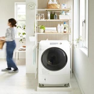 洗濯機上 収納
