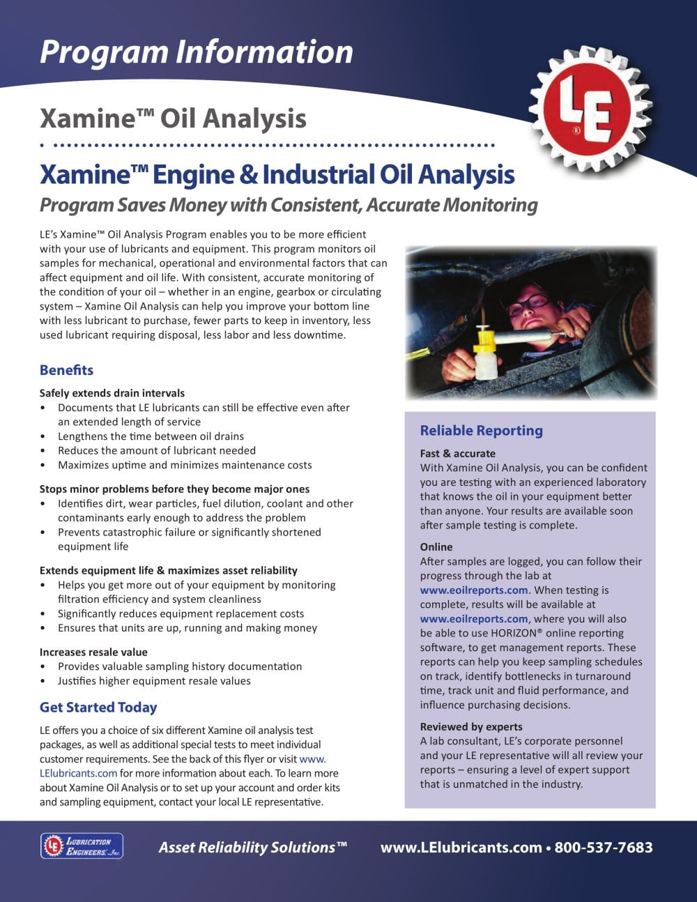 xamine oil analysis 1 2 pages
