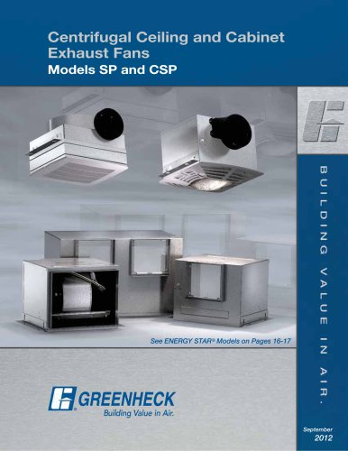 ceiling exhaust and inline cabinet fans
