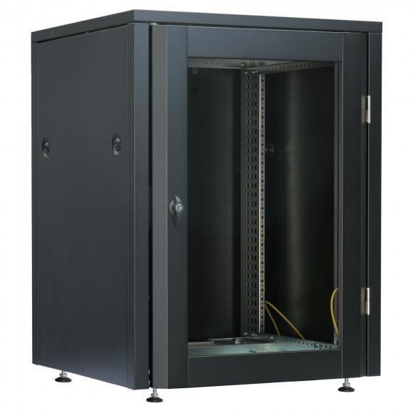 armoire reseau au sol a portes battantes rack 19