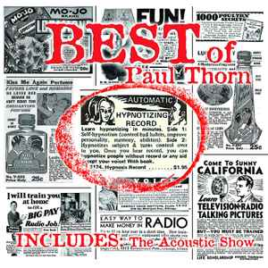 Best Of Paul Thorn (CD, Compilation) album cover