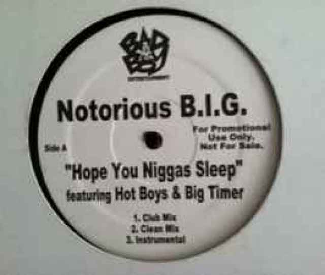 Notorious B I G Hope You Niggas Sleep Big Booty Hoes