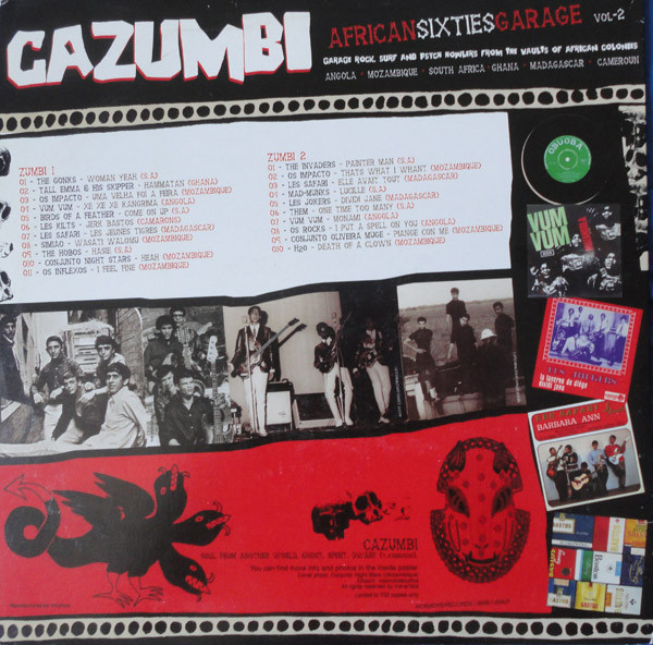 CAZUMBI: AFRICAN SIXTIES GARAGE Vol. 2 LP/1960s Pan-African Garage Rock!/Ltd.700