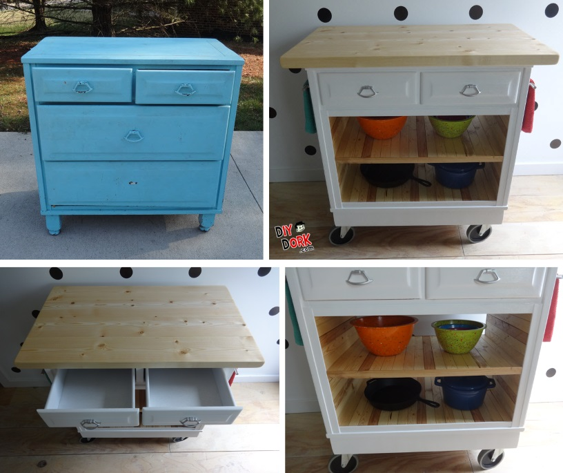 How To Turn A Dresser Into A Kitchen Island Diydork Com