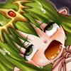 緑色の髪の乙女