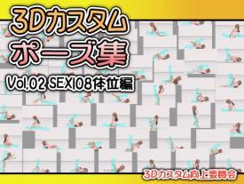 3Dカスタムポーズ集 Vol.02 SEX108体位編