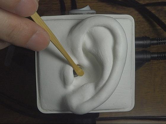 [umino ASMR] 【声なし】竹製の耳かきでゆっくり&高速耳かき / SR3D