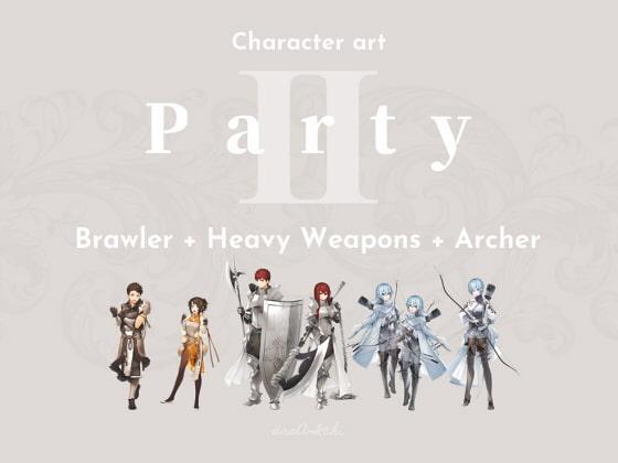 [sasAIchi] CHARACTER ART   Part-2: Brawler + Heavy Weapons + Archer