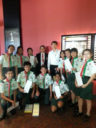 Great moment with our Chief Commissioner, Mr Tan Cheng Kiong