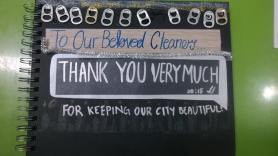 Giving thanks to our cleaners