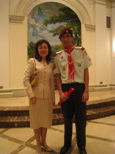 Choon Lian with Mrs Tan, principal