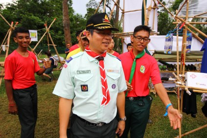 Our boy patrol PL, Aqil together with our Chief