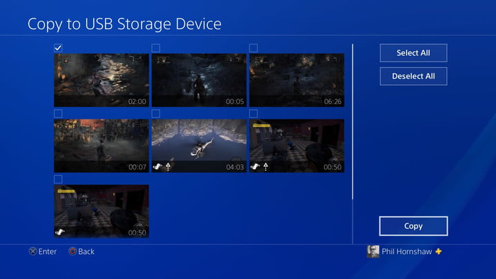 select copy to usb how to record a gameplay video on ps4