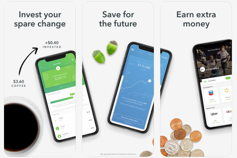 Acorns money saving app